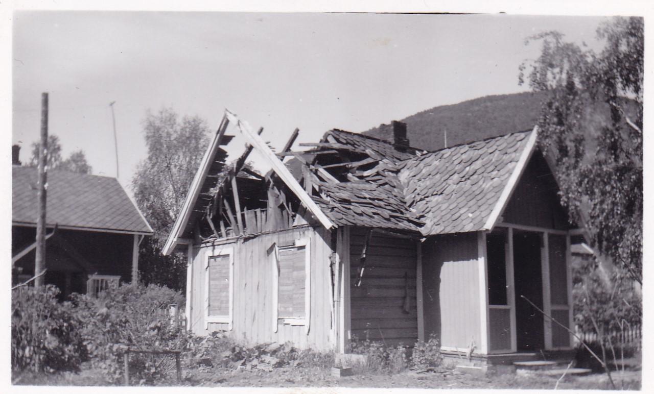 Tangen-huset på Otta ble bombet i 1940
