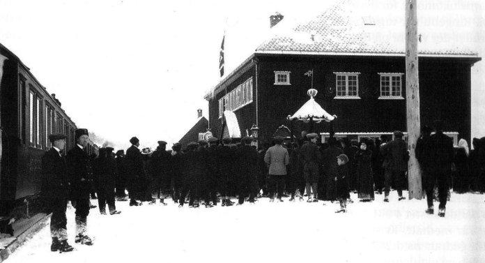 Dombås stasjon 1913.