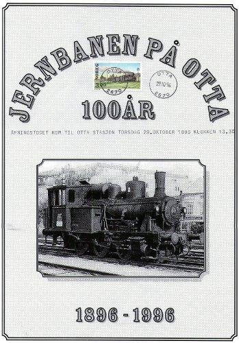 Brosjyre jernbanejubileet på Otta i 1996.