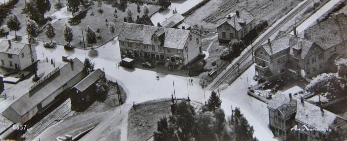 Fra Otta sentrum i 1950-/1960-Ã¥rene.