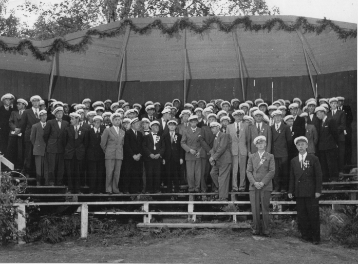 Sangerstevnet på Otta i 1950.