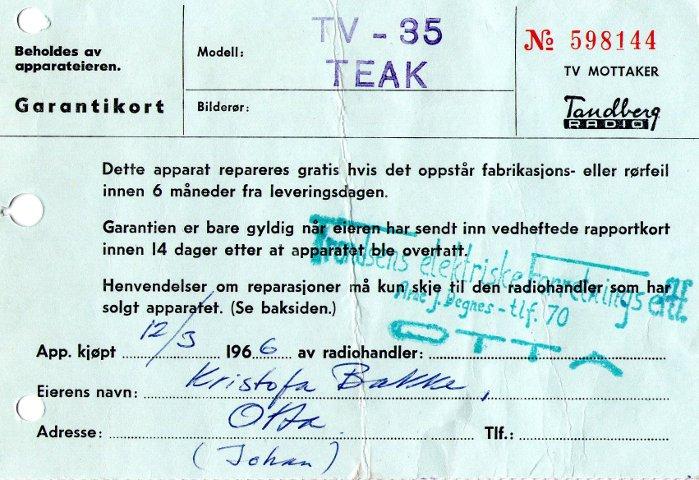 TV-alderen kom til Otta.