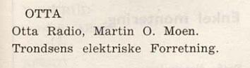 To radioforhandlere på Otta i 1956.