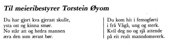 Dikt til Torstein M. Øiom
